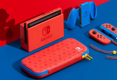 nintendo switch mario red and blue edition console
