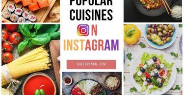 Most popular foods on Instagram